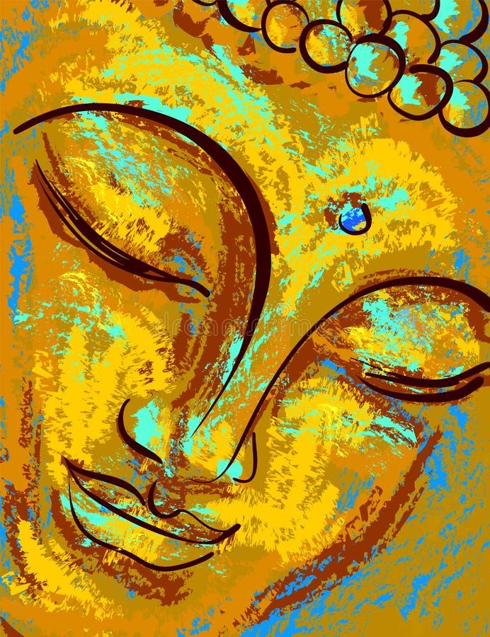 Ritratto di Buddha illustrazione vettoriale