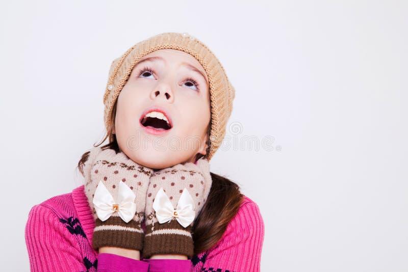Ritratto di cercare sveglio della bambina fotografia stock libera da diritti