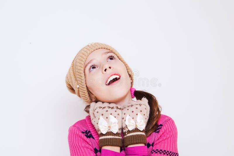 Ritratto di cercare sveglio della bambina immagini stock libere da diritti