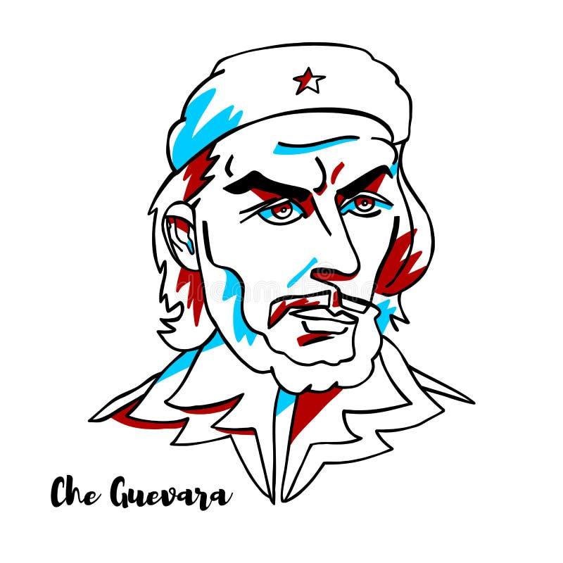 Ritratto di Che Guevara illustrazione vettoriale