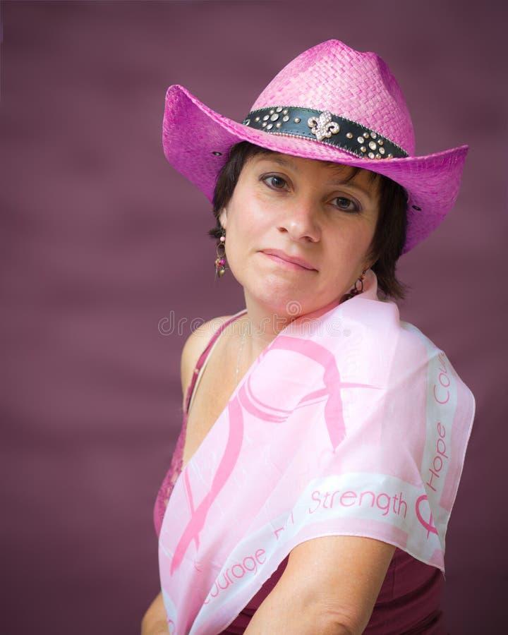 Ritratto di consapevolezza del cancro della mammella immagini stock