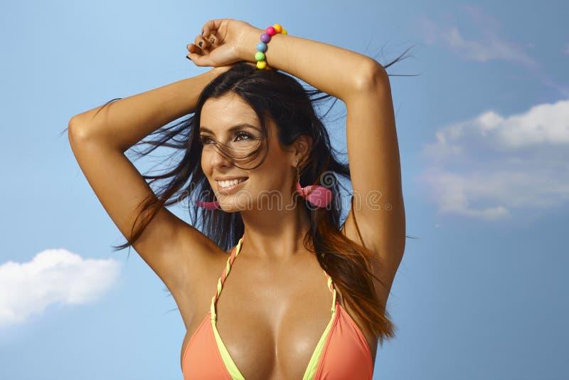 Ritratto di estate della donna sexy fotografia stock