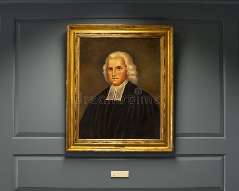 Ritratto di Francis Alison dall'artista sconosciuto nella società storica presbiteriana fotografie stock libere da diritti