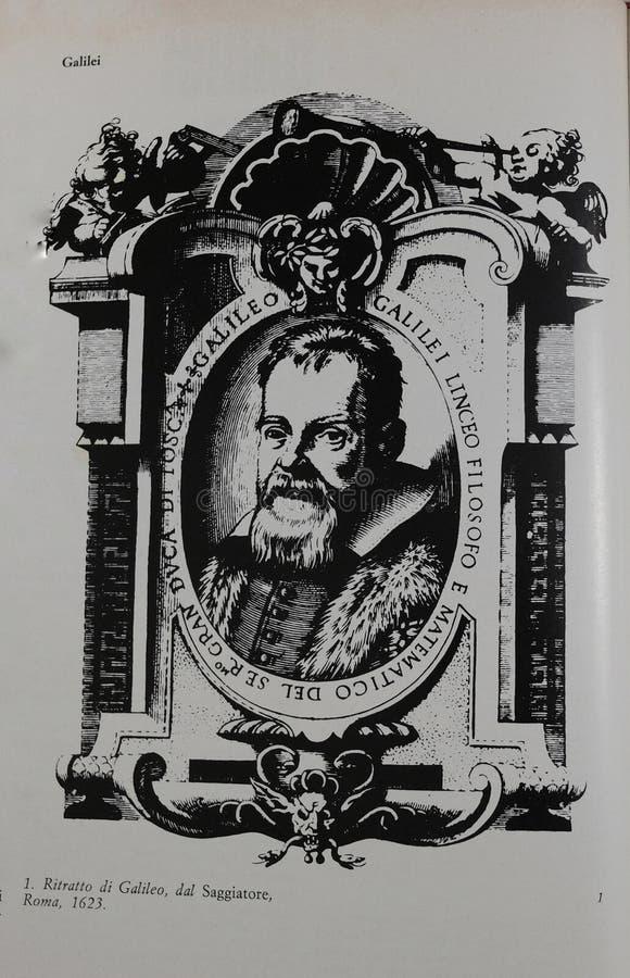 Ritratto di Galileo Galilei fotografie stock libere da diritti