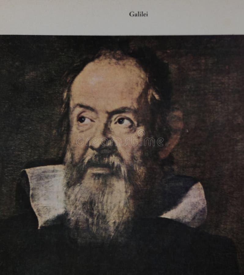 Ritratto di Galileo Galilei fotografia stock libera da diritti