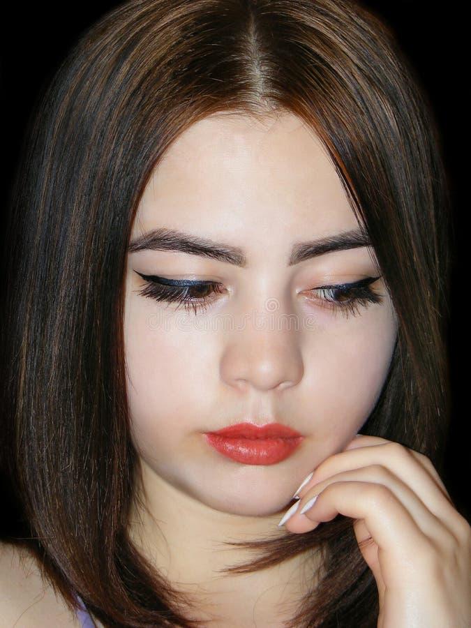 Ritratto di giovane bella ragazza immagini stock libere da diritti