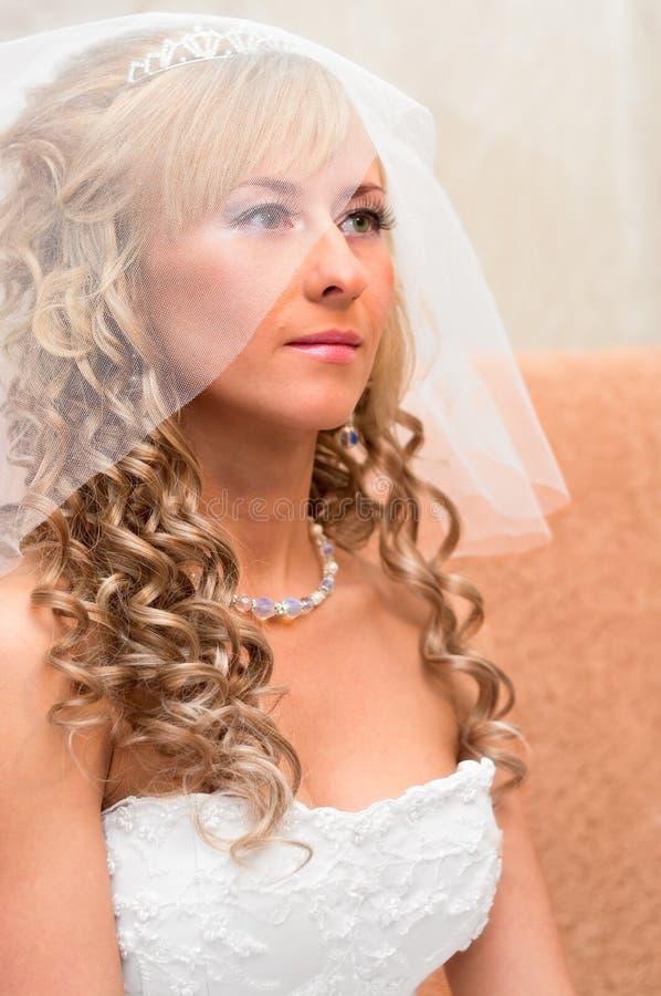 Ritratto di giovane bella sposa fotografie stock