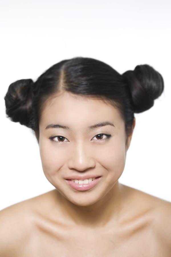 Ritratto di giovane bello modello asiatico fotografia stock