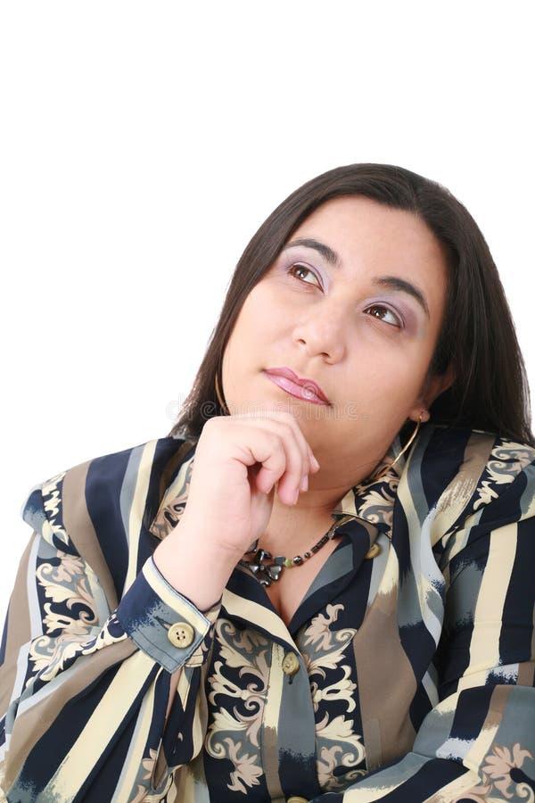Ritratto di giovane bello sguardo della donna di affari fotografia stock