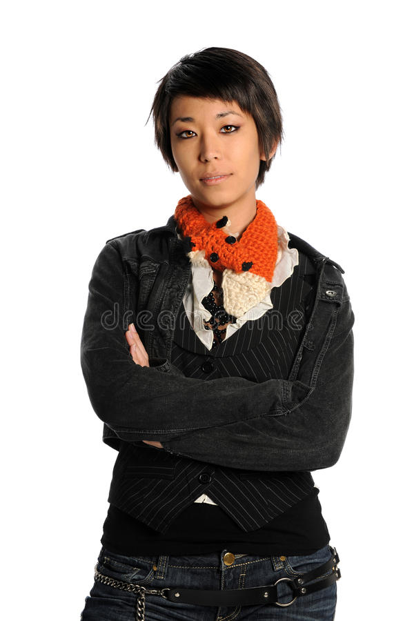 Ritratto di giovane donna asiatica fotografie stock