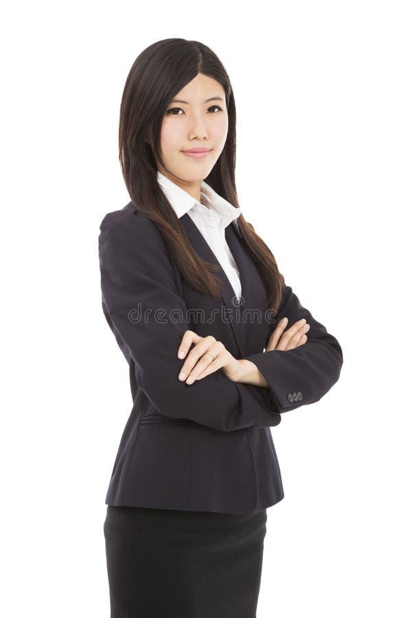 Giovane donna asiatica di affari immagini stock