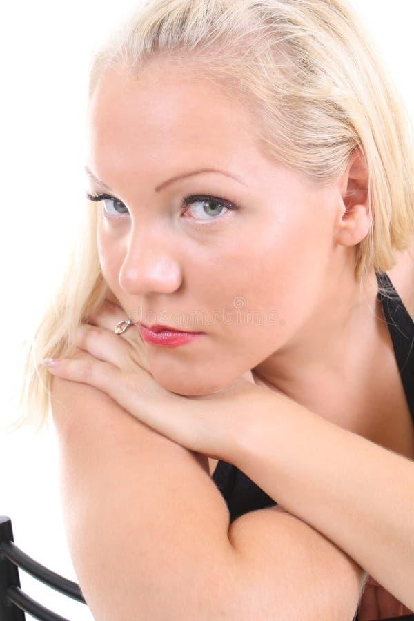 Ritratto di giovane donna del blondie fotografie stock libere da diritti