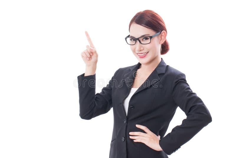 Download Ritratto Di Giovane Donna Di Affari Che Indica Su Immagine Stock - Immagine di persona, esposizione: 56875885