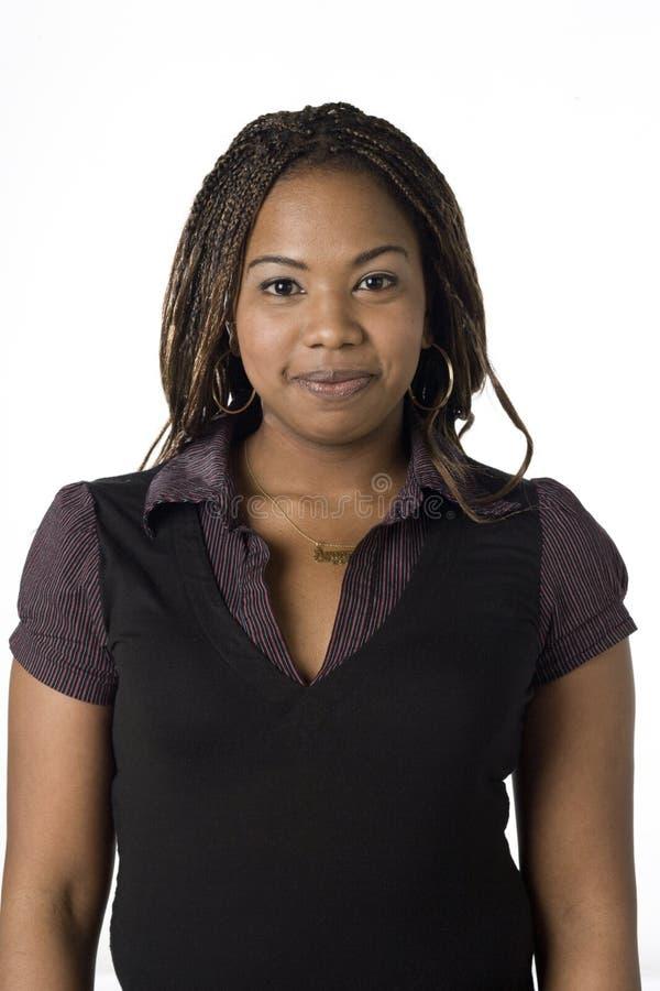 Ritratto di giovane donna di colore immagini stock