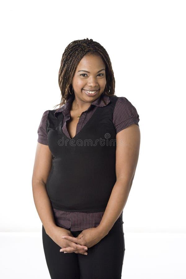 Ritratto di giovane donna di colore fotografia stock libera da diritti