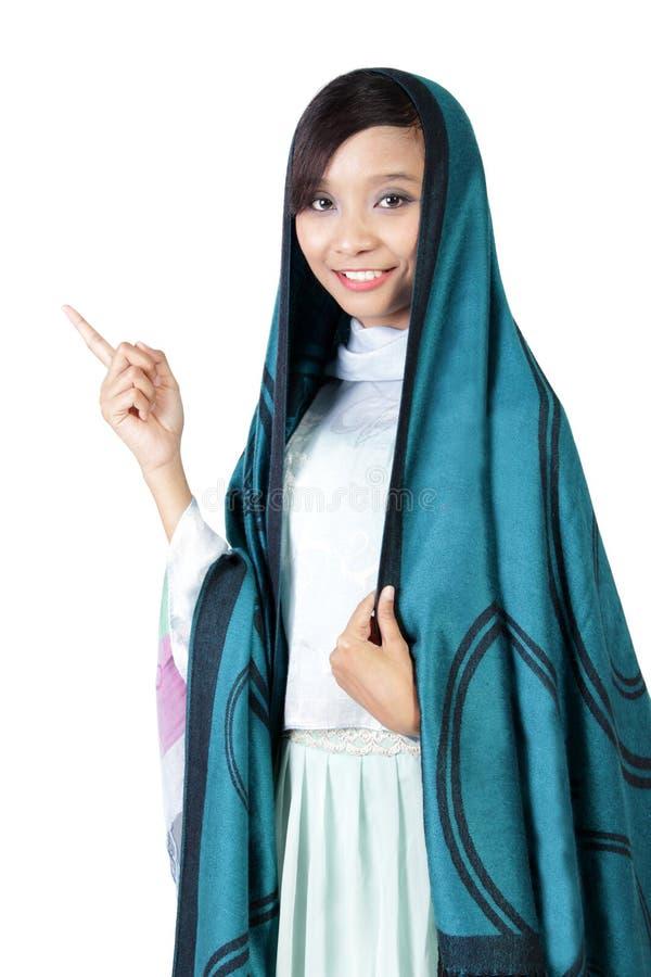 Ritratto di giovane donna musulmana asiatica immagini stock libere da diritti