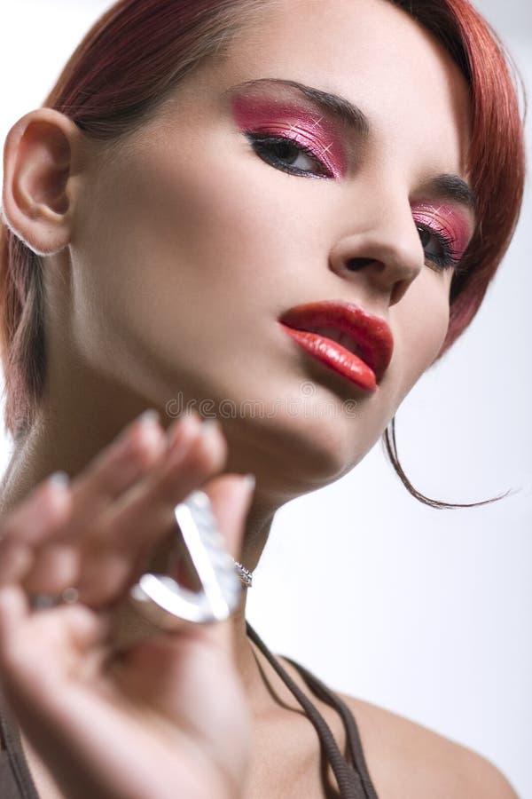 Ritratto di giovane donna sexy immagini stock libere da diritti