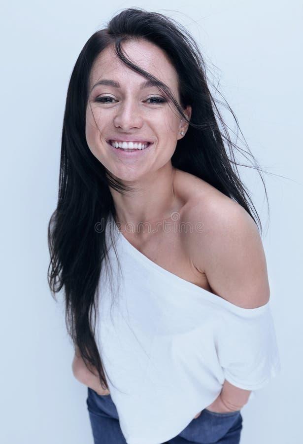 Ritratto di giovane donna sicura Bellezza e modo fotografia stock libera da diritti