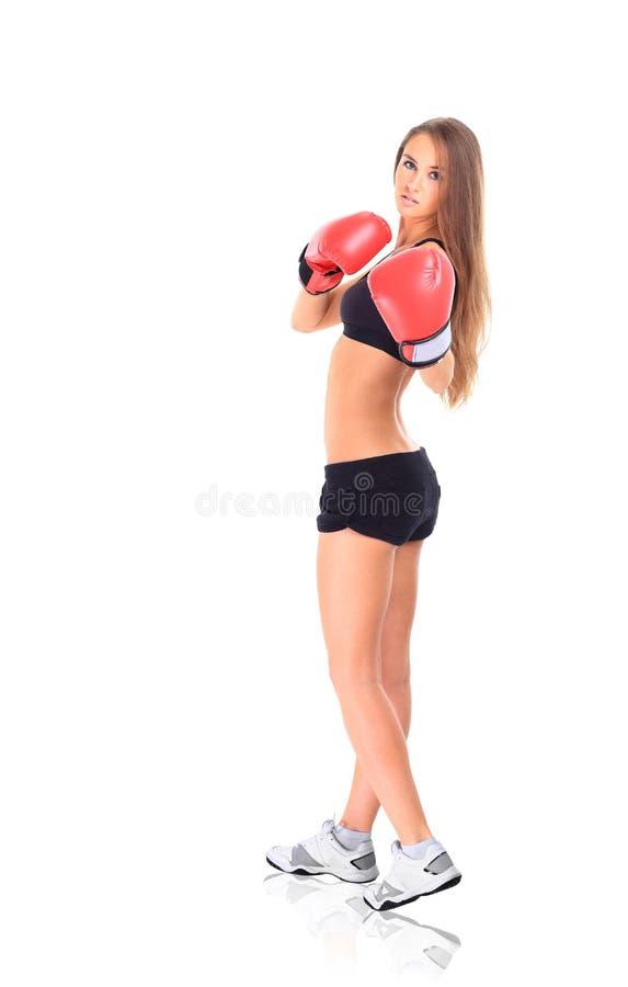 Ritratto di giovane donna sportiva fotografia stock