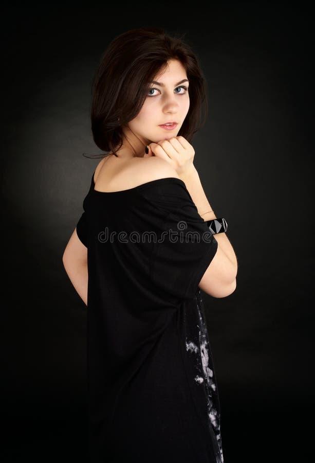 Ritratto di giovane femalea sveglio fotografie stock