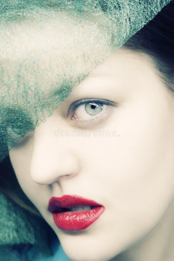 Ritratto di giovane femmina sessuale in cappello fotografie stock