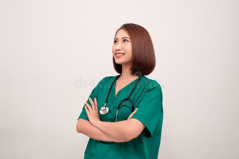 Ritratto di giovane infermiere asiatico immagine stock libera da diritti