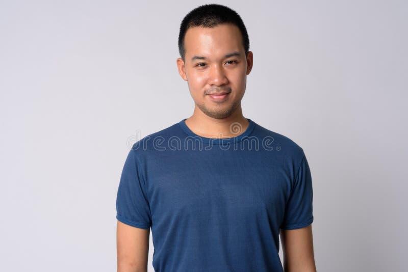 Ritratto di giovane uomo asiatico con i capelli di scarsità fotografia stock libera da diritti