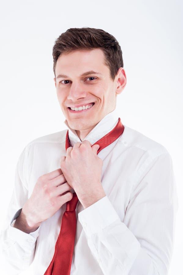Ritratto di giovane uomo d'affari immagini stock