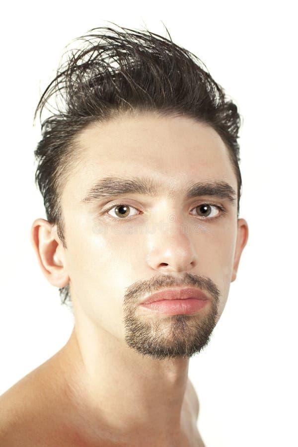 Ritratto di giovane uomo del brunette immagini stock libere da diritti