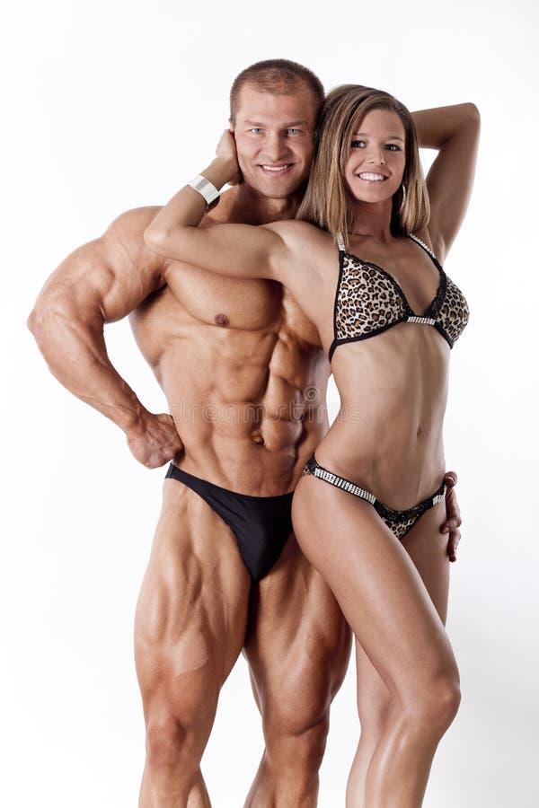 Ritratto di giovani coppie di forma fisica fotografia stock