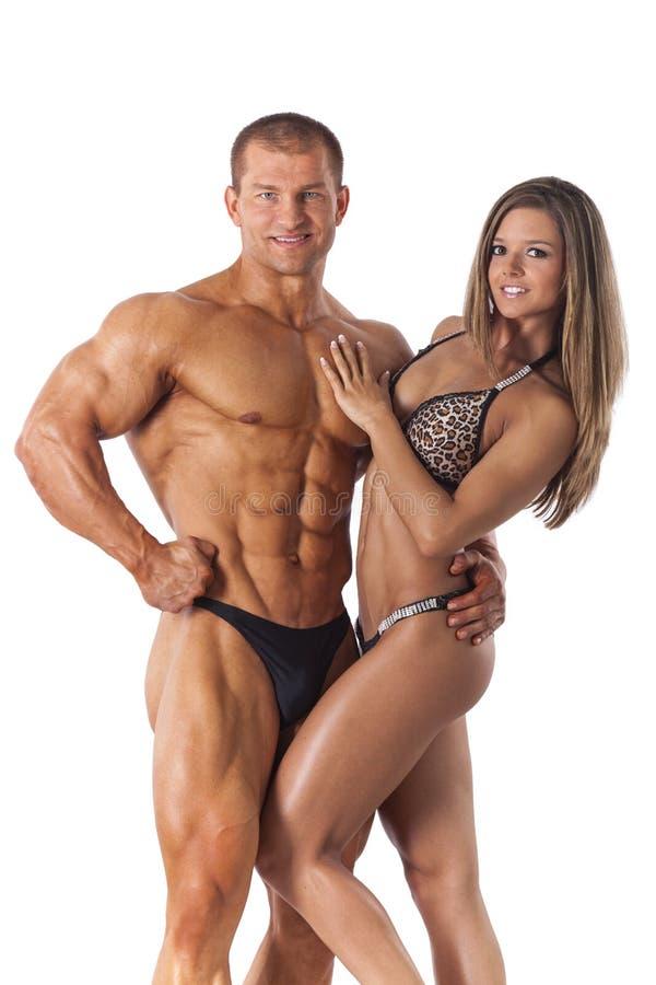 Ritratto di giovani coppie di forma fisica fotografia stock libera da diritti