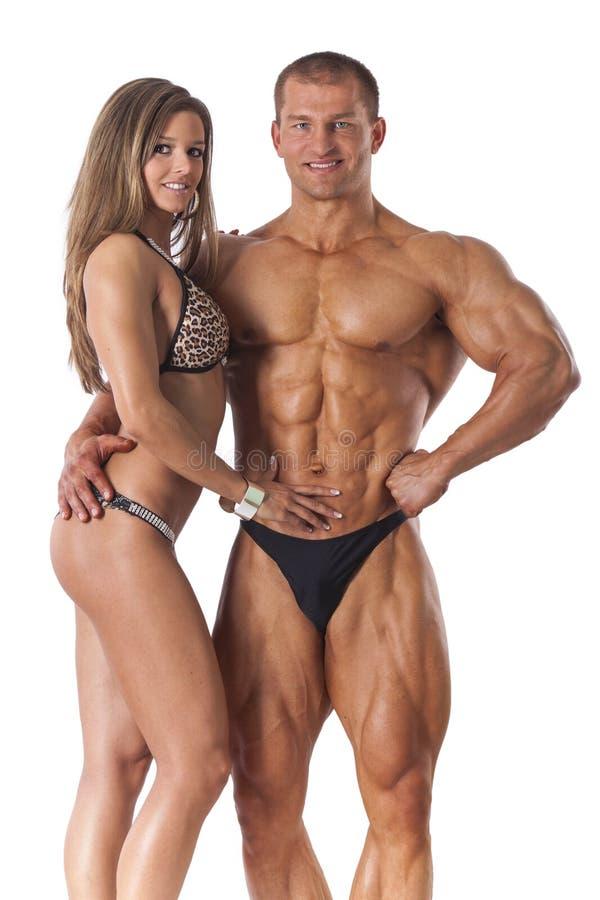 Ritratto di giovani coppie di forma fisica immagine stock