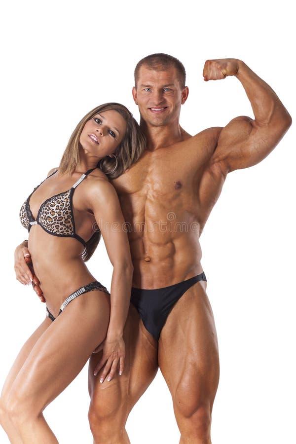 Ritratto di giovani coppie di forma fisica fotografie stock
