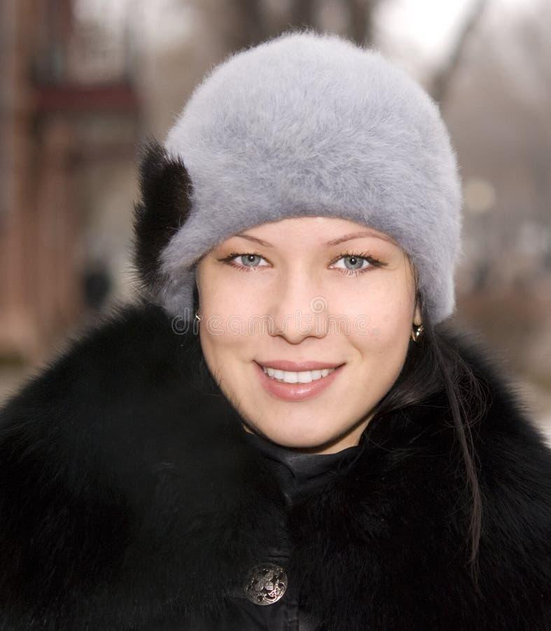 Ritratto di inverno fotografia stock
