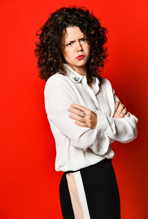 Ritratto di modo di stile di affari della giovane donna immagini stock