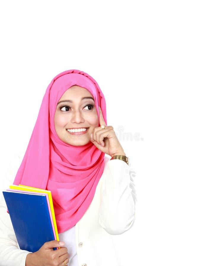 Ritratto di pensiero della giovane donna immagine stock libera da diritti
