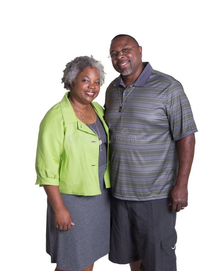 Ritratto di più vecchia coppia fotografia stock