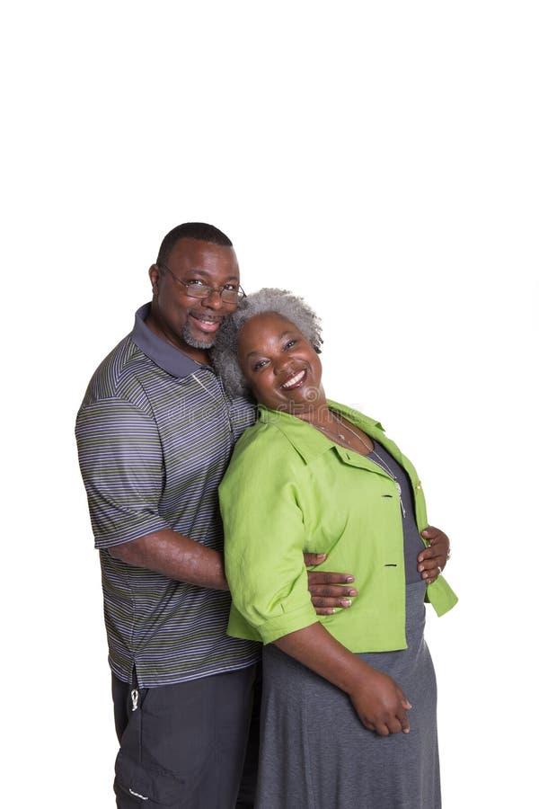 Ritratto di più vecchia coppia fotografie stock libere da diritti