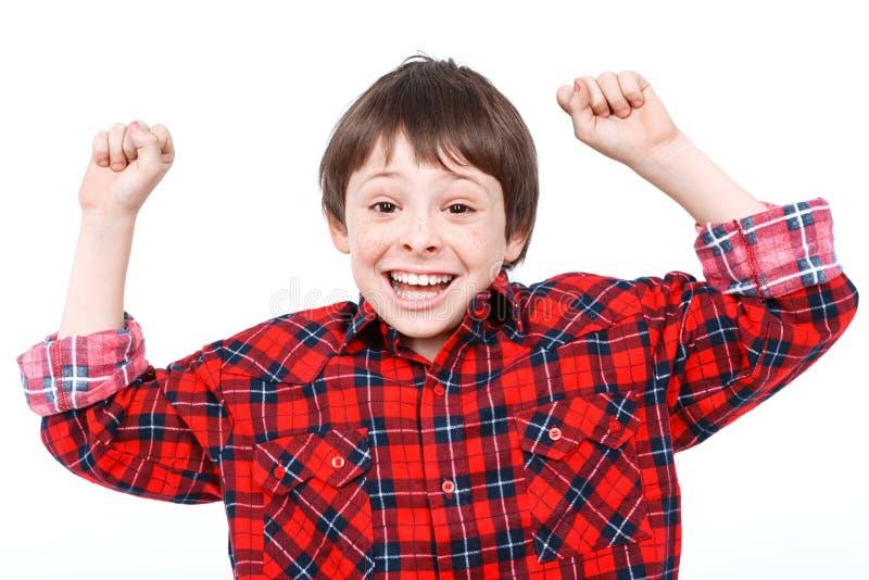 Ritratto di piccolo ragazzo emozionale fotografie stock libere da diritti