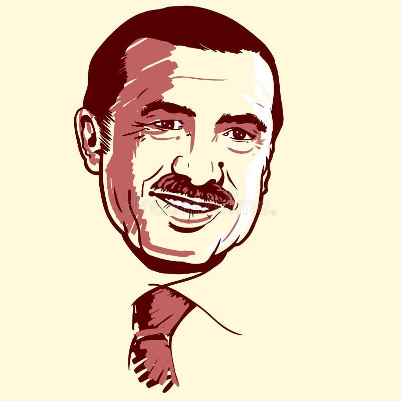 Ritratto di Recep Tayyip Erdogan illustrazione vettoriale