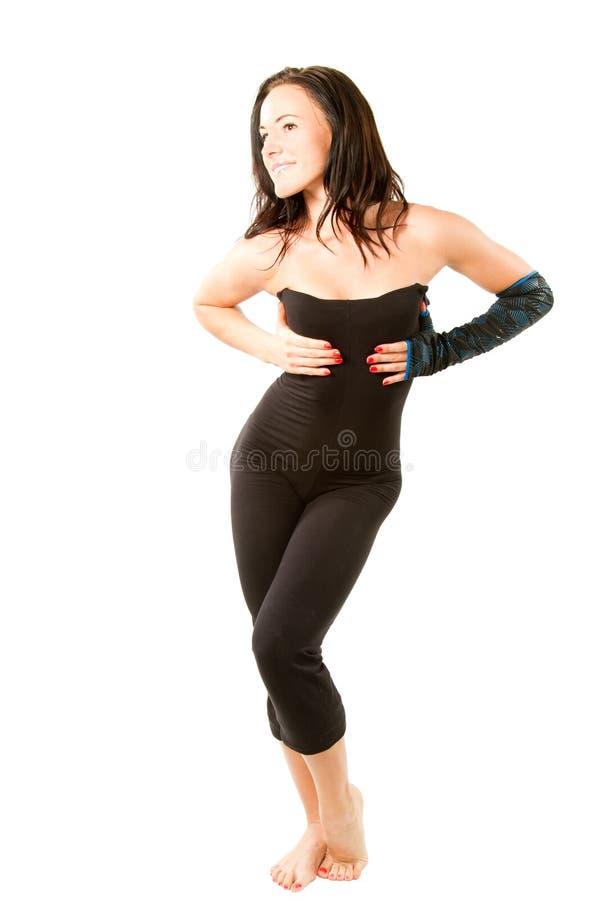Ritratto di risolvere della donna di forma fisica fotografie stock