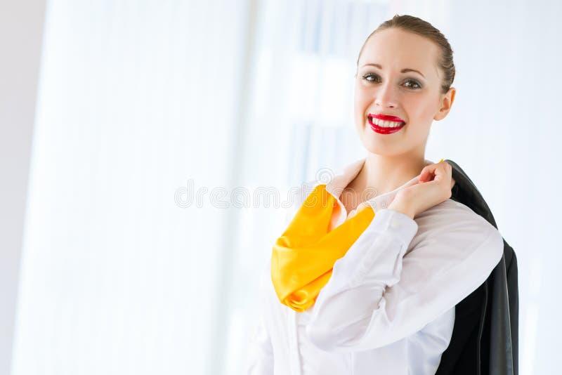 Ritratto di riuscita donna di affari immagini stock libere da diritti