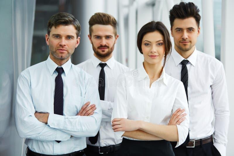 Ritratto di riuscita gente di affari del gruppo immagini stock libere da diritti