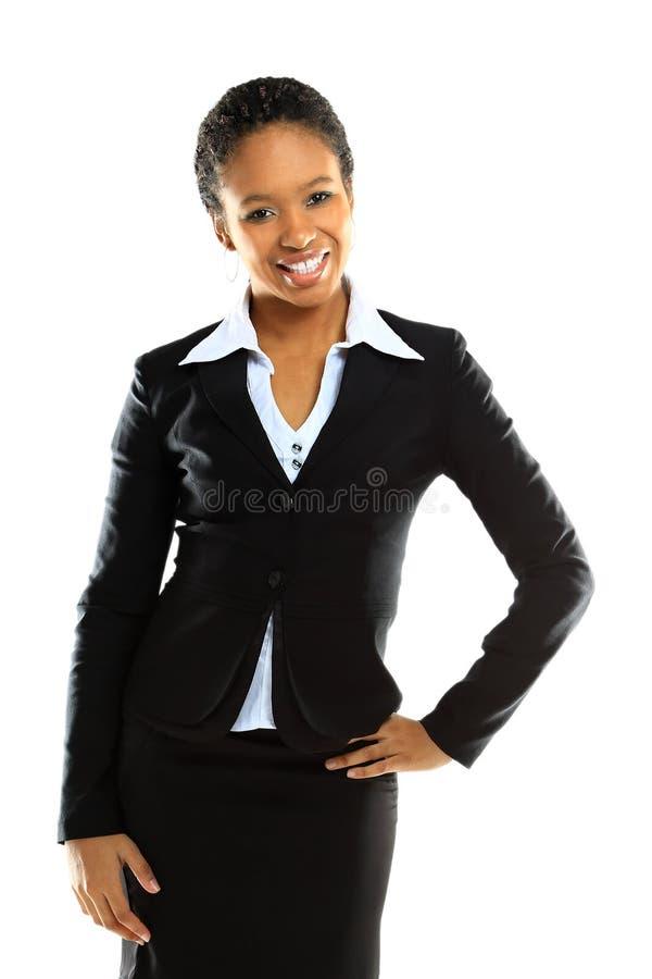 Ritratto di riuscita giovane donna di affari immagine stock
