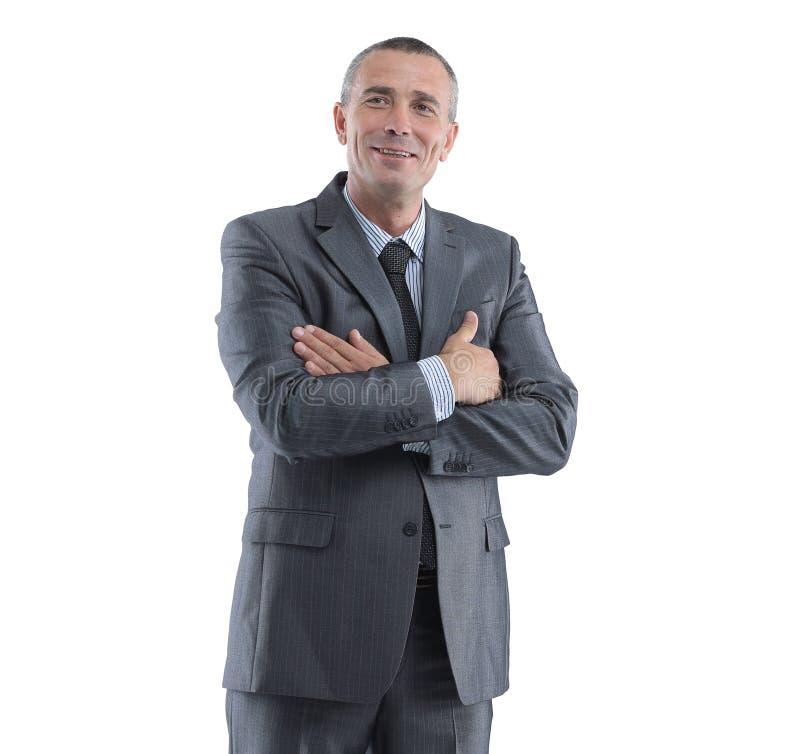 Ritratto di riuscito uomo d'affari I fotografia stock