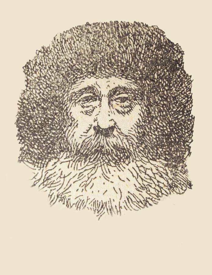 Ritratto di Robert Peary, esploratore artico fotografia stock