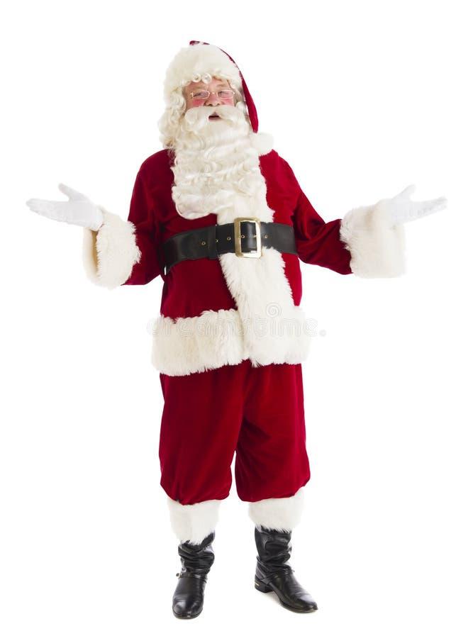 Ritratto di Santa Claus Gesturing felice fotografie stock libere da diritti