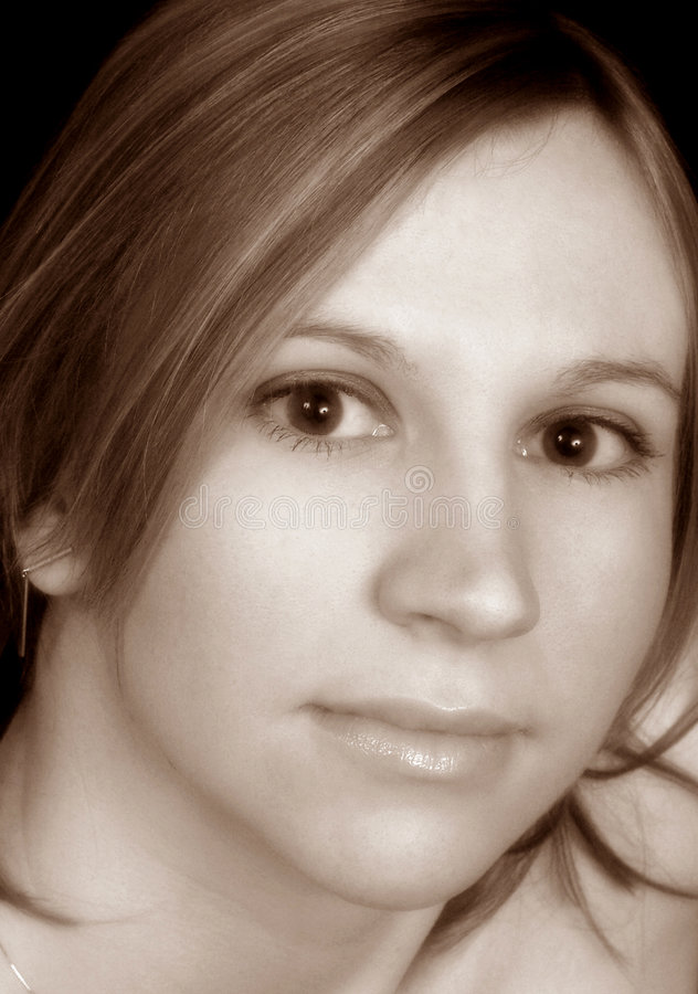 Ritratto di seppia fotografie stock libere da diritti