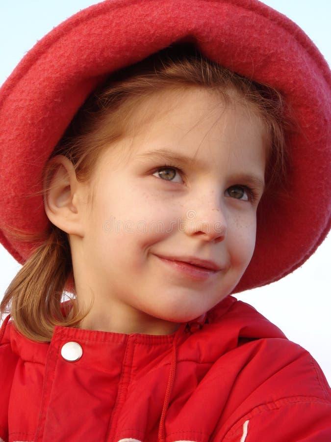 Download Ritratto Di Sera Nel Colore Rosso Fotografia Stock - Immagine di ragazza, cute: 7313596