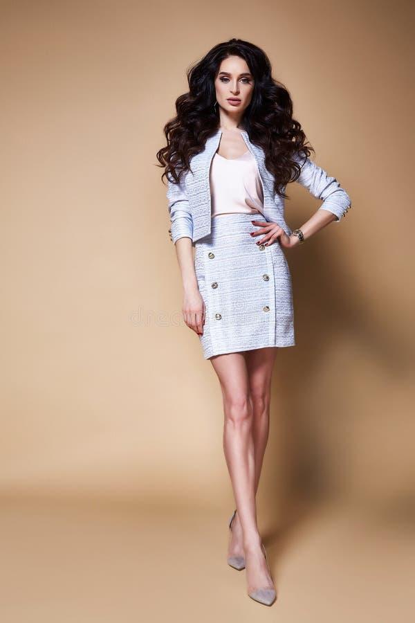 Ritratto di signora di modello sexy da di affari di modo abbastanza bello immagini stock
